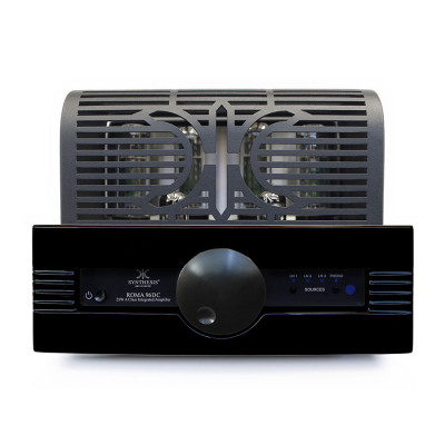 Synthesis ROMA96DC lntegrated stereo tube amplifier Black