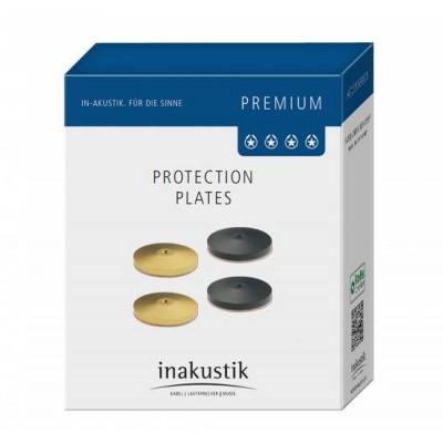 Inakustik Premium Pic Plate black Set 4